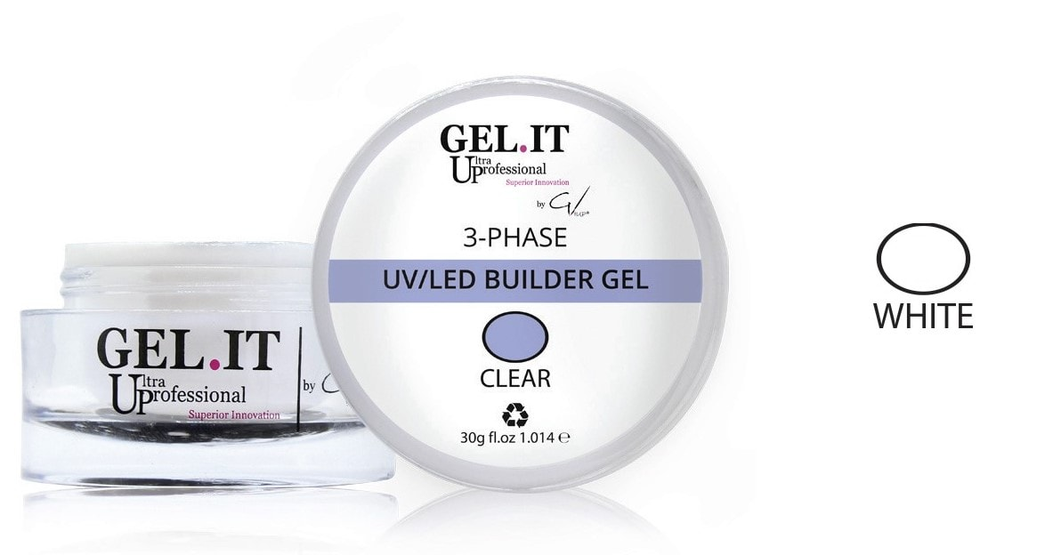 3-Phase Builder Gel Clear - White